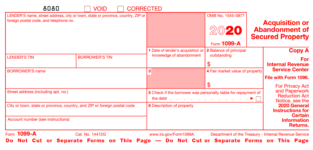 Form 1099-A Definition