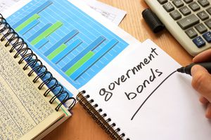 Government bonds written in a note.