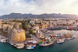 Kyrenia (Girne) is a city on the north coast of Cyprus.