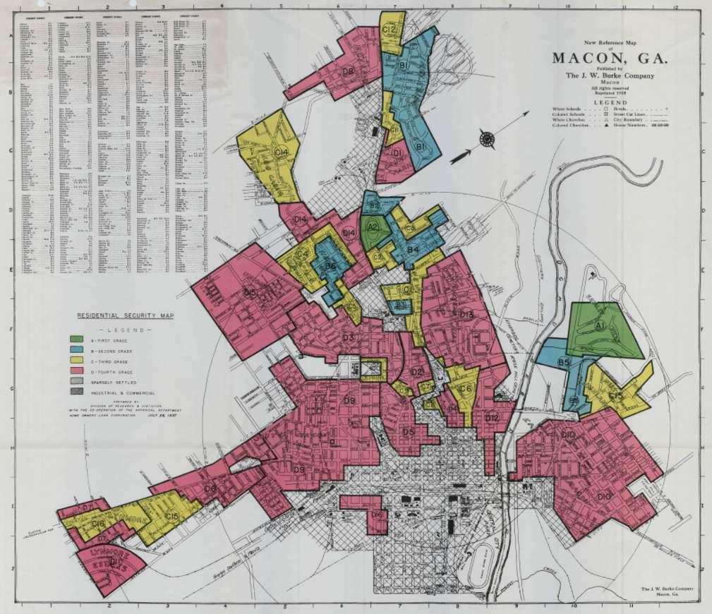 HOLC map of Macon, Ga.