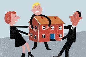 Bereaved relatives arguing over inheritance
