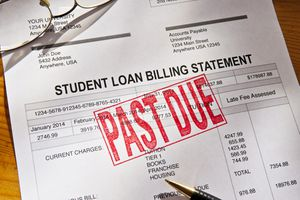 A past due student loan billing statement