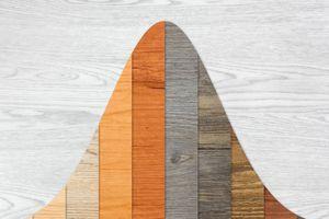 Wood Textured Graph Bars