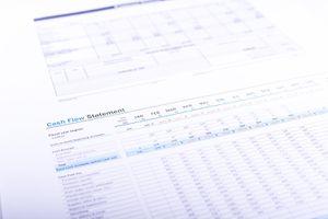 A partial view of a cash flow statement