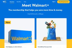 Walmart+ free shipping plan info page