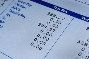 Payslip with tax deductions