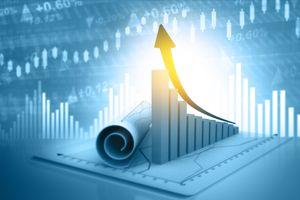 3d illustration of economic growth background