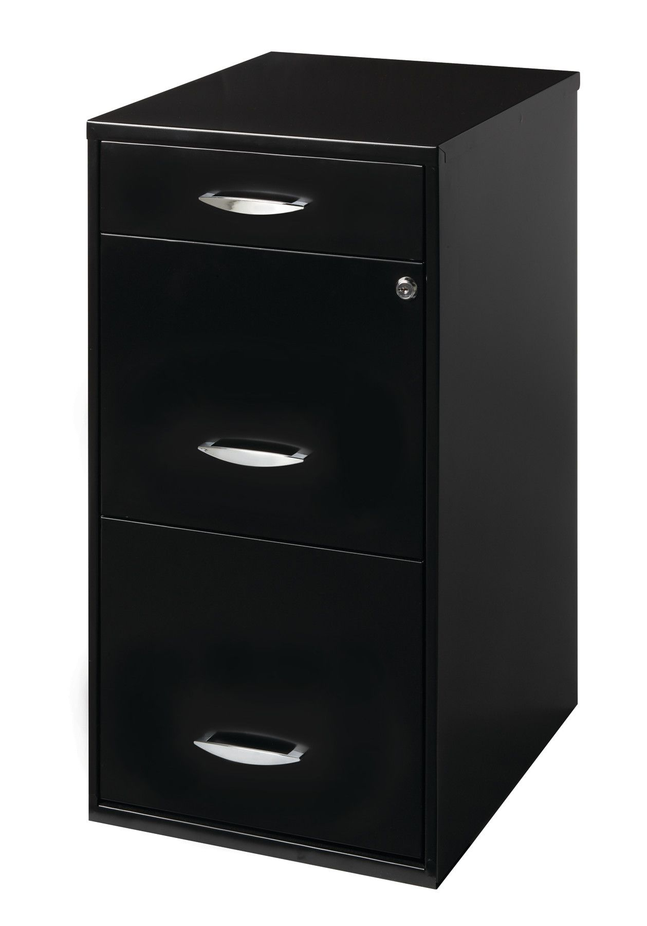 Space Solutions Three-Drawer File Cabinet