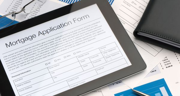 Online mortgage application form