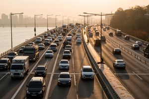 Traffic jam in Seoul