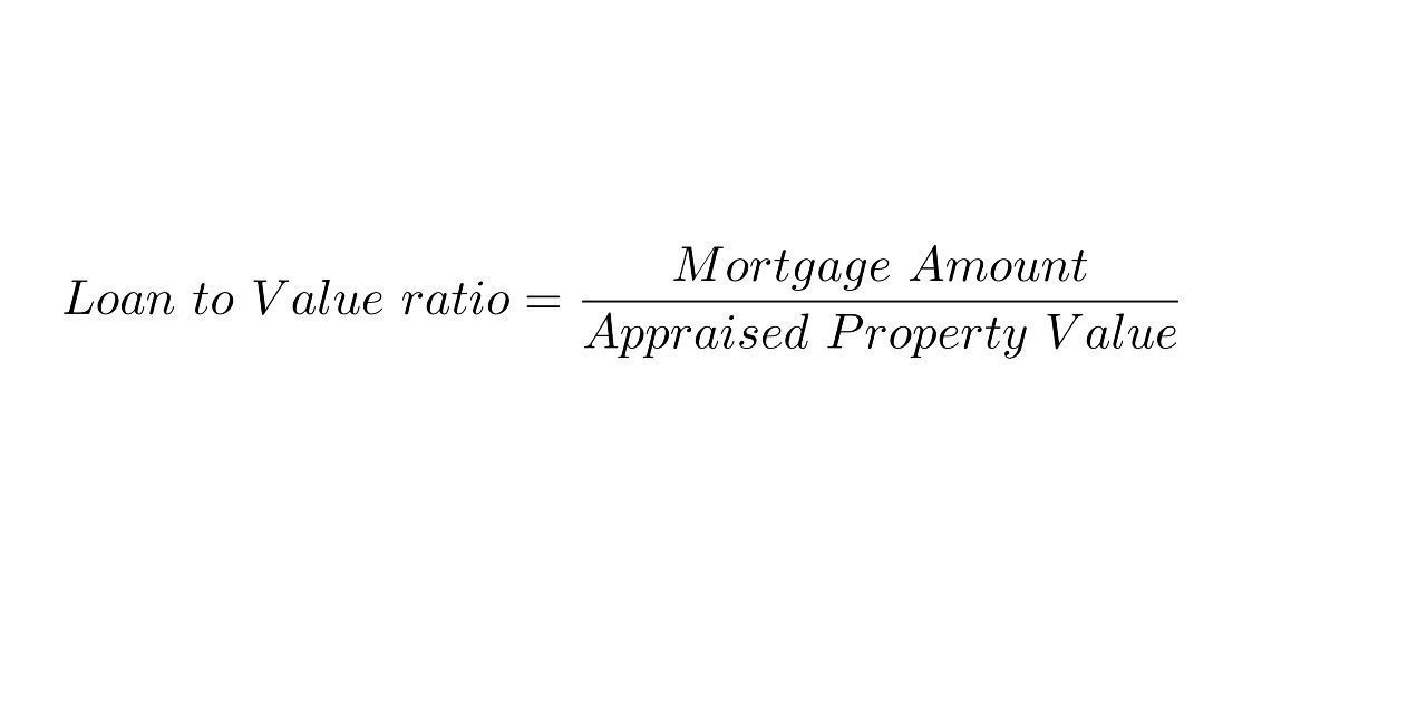 LTV Ratio Mortgage Amount Appraised Property Value