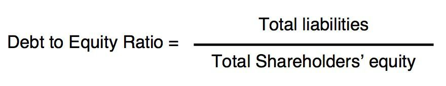 How do you calculate the debt-to-equity ratio?