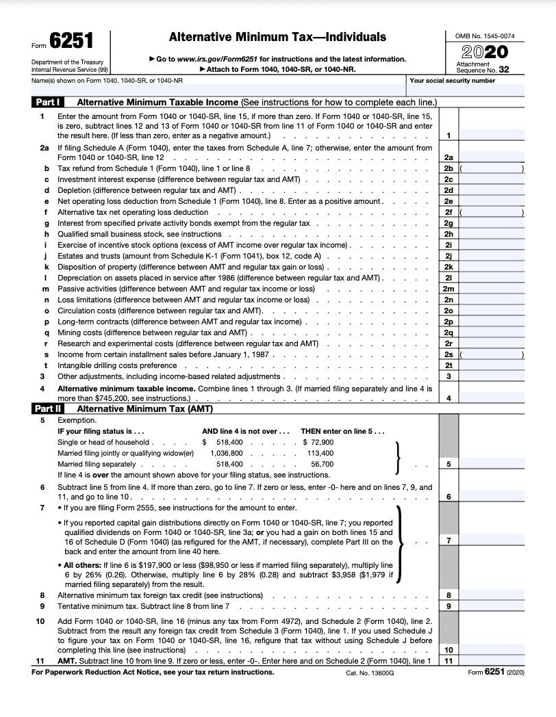 form 6251