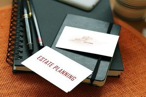 Business card that says Estate Planning