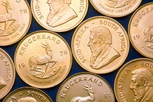 Krugerrands accounted for 90% of the world's gold-coin market in 1980.