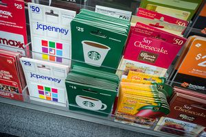 Store display of gift cards