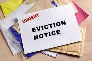 Eviction notice on door step