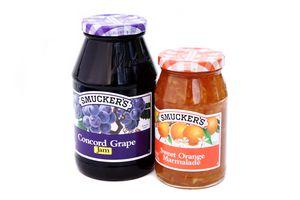 Image of Smucker's jam and orange marmalade