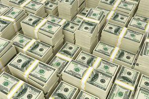 Piles of bundled $100 bills