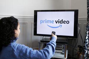 Amazon Prime Video logo displayed on a TV