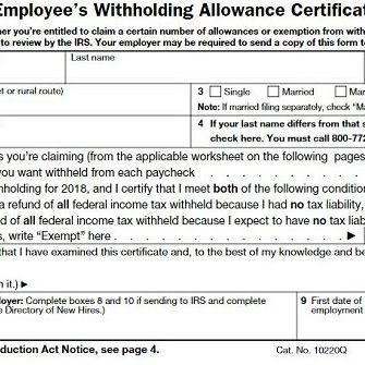 How to Fill Out a W-4 Form