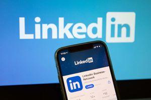 LinkedIn on phone and screen