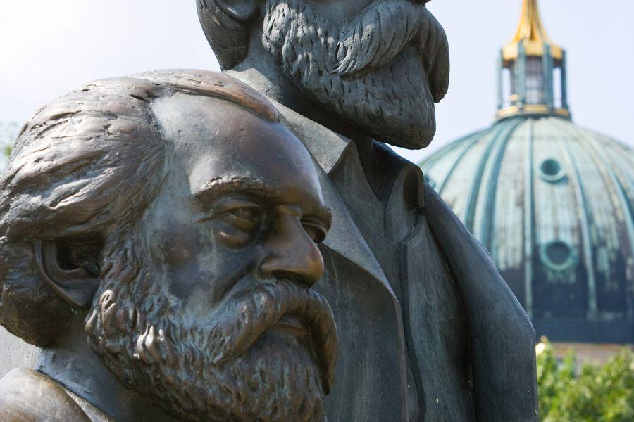 Statue of Karl Marx and Friedrich Engels, Berlin, Germany