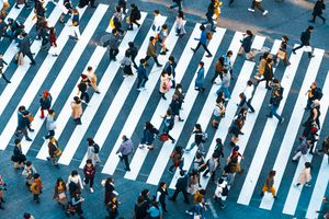 People walking at Shibuya crossing, Tokyo