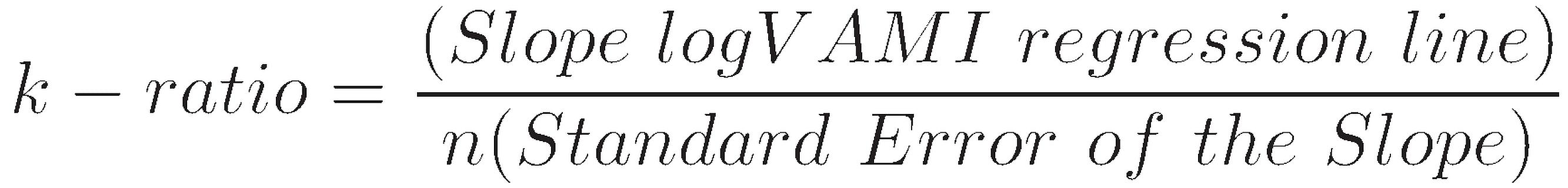 K-ratio formula