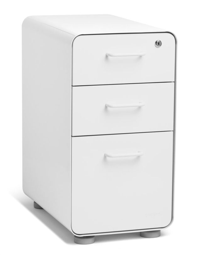 Poppin Slim 3-Drawer Stow Filing Cabinet