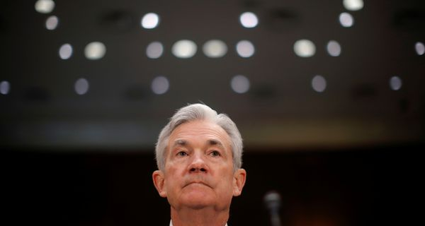 "U.S. Federal Reserve Board Chairman Jerome Powell waits to testify at a Senate Banking and Housing and Urban Affairs Committee hearing on ""The Semiannual Monetary Policy Report to Congress"" on Capitol Hill in Washington, U.S., February 26, 2019."
