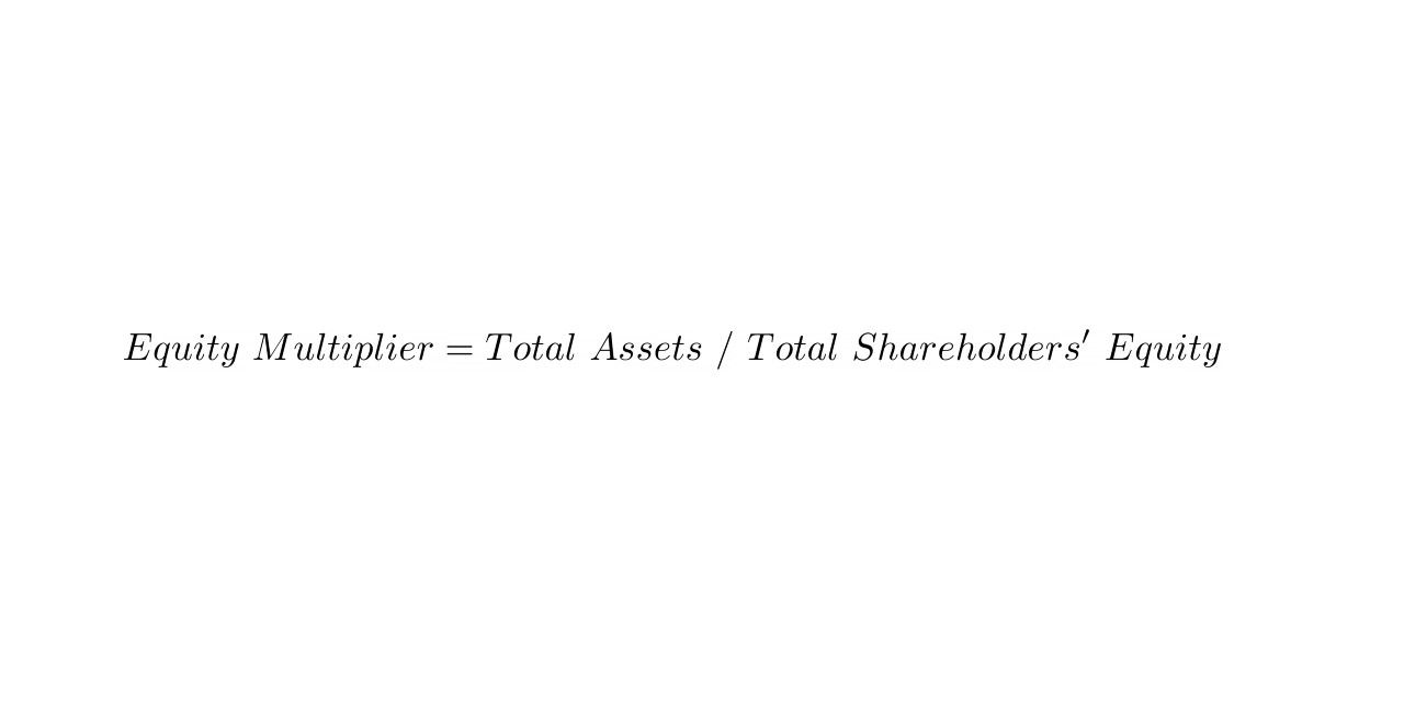 Equity Multiplier = Total Assets / Total Shareholders' Equity