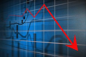 Image of downtrending stock chart