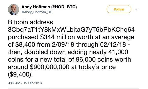 Anonymous Cryptocurrency Trader Buys $400 Million in Bitcoin