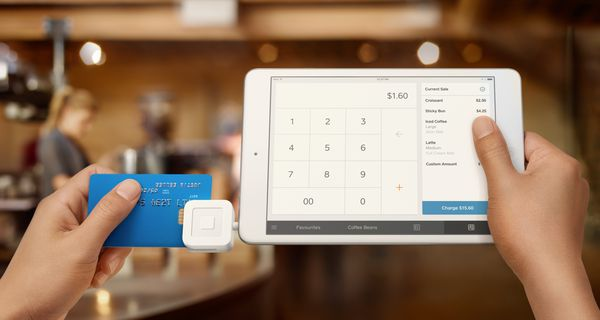 Image of Square credit card payment system