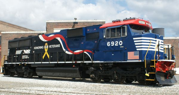 Norfolk Southern SD60E 6920 Veterans Unit