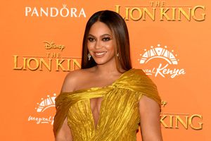 """Beyoncé Knowles-Carter attends the European premiere of Disney's """"The Lion King"""" at Odeon Luxe Leicester Square on July 14, 2019, in London, England."""