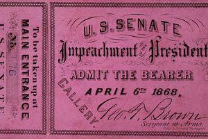 Ticket for Andrew Johnson impeachment, 1868