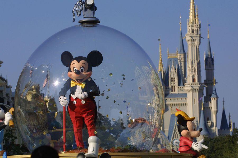 Mickey Mouse at DisneyWorld parade