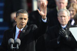 Barack Obama during 2008 inauguration