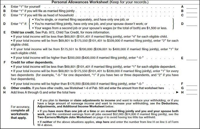 how to fill out your w-4 form