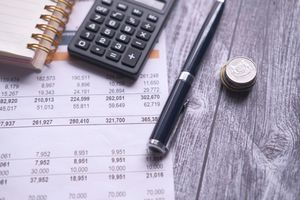 analyzing financial statement with calculator