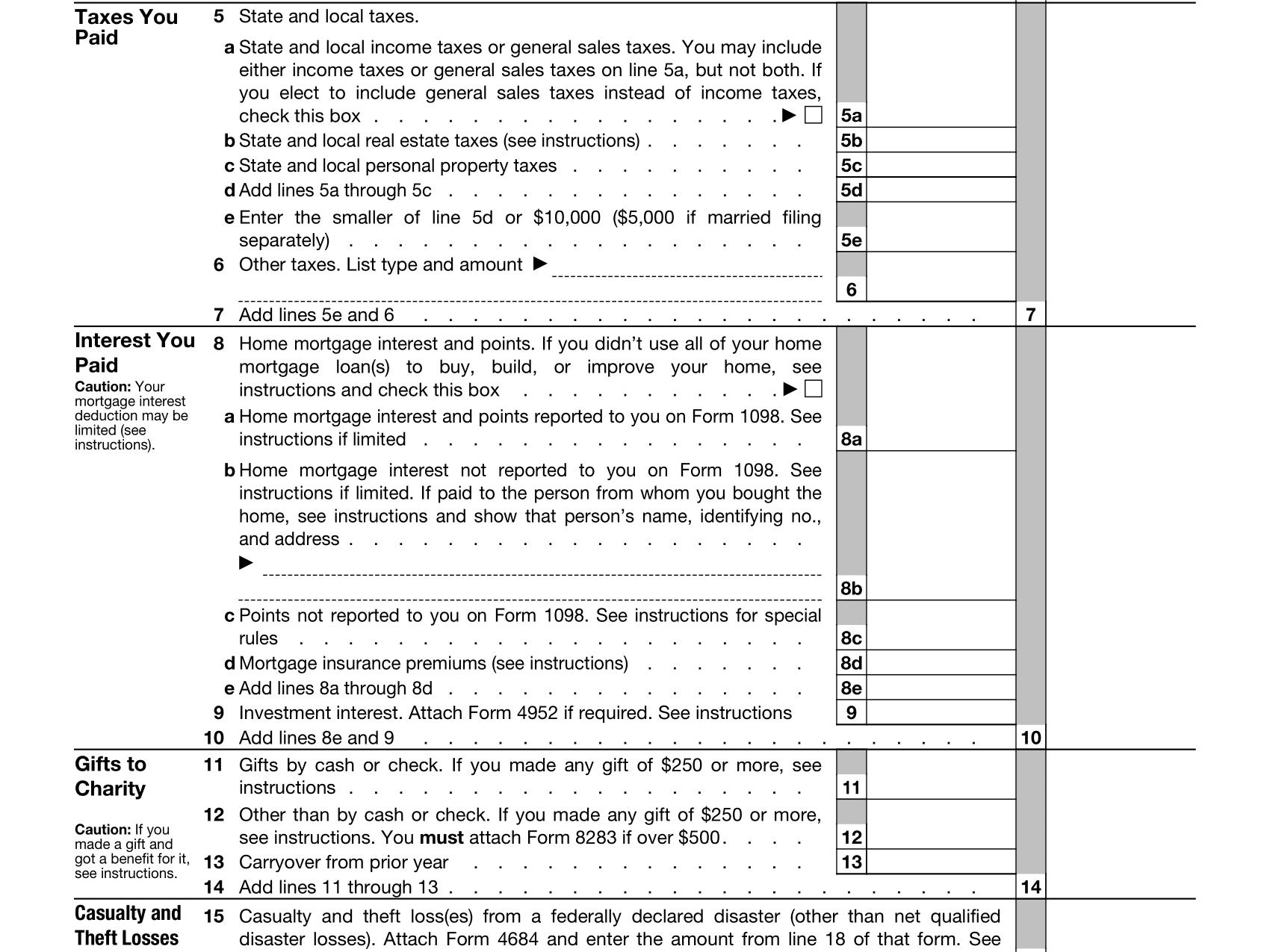 Schedule A Definition