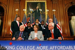 Pelosi And Kennedy Announce College Tuition Program.