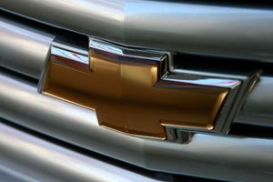 The chevrolet logo is seen on the grill of a brand new Chevrolet at Ellis Brooks Chevrolet December 4, 2008 in San Francisco