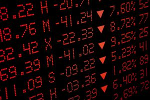 Stock market crash ticker