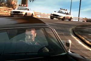 Grand Theft Auto IV (GTAIV) Car Chase Screenshot