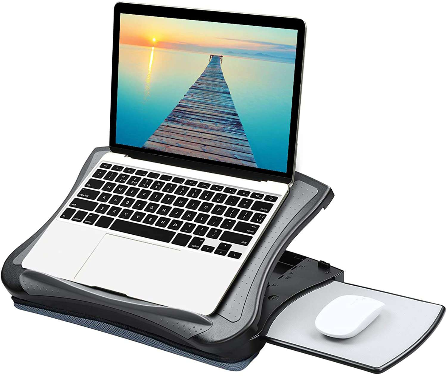 Huanuo Adjustable Lap Desk with Cooling Fan