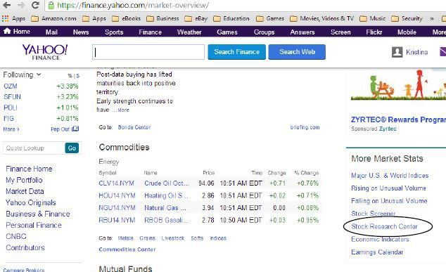 How To Use The Top Yahoo Finance Tools