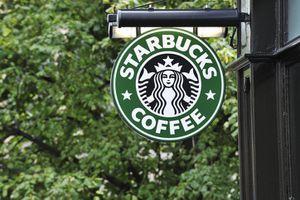 Starbucks sign.